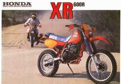 Honda XR600R Man seeing this ad of a perfect xr is bringing back childhood memories..