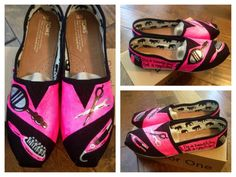 Custom Hand Painted Hair Stylist TOMS Shoes. $95.00, via Etsy.