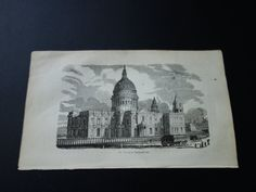 St. Paul's Cathedral London 1839small antique by DecorativePrints