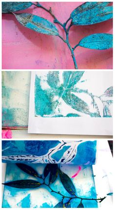 Blog post from Helen Wells Artist about printing monoprints with a Gelli Arts® gelatin printing plate