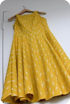 Giraffe dress by Amy of Badskirt. Love it!