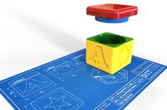Toy block design with a screw lid for a 3D print Shapeways client
