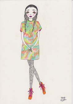doodoodloo: Tye Dye For// Freya Flavell Funny Sketches, Cool Art, Awesome Art, Tye Dye, Art Inspo, Doodles, My Arts, Collage, Textiles