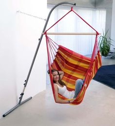 Beau Chairs : Furniture: Folding Hammock Chair Stand For Indoor House Design  With Diy Indoor Swing Chair With Regard To Household Diy Indoor Swing Chair  With ...
