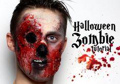 zombie makeup tutorial halloween 2013