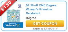 Print the new $1.50/1 Degree and $1/1 Dove Deodorant coupons now! - http://printgreatcoupons.com/2013/12/11/print-the-new-1-501-degree-and-11-dove-deodorant-coupons-now/