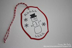 25 Days of Christmas Tags - Day 22 25 Days Of Christmas, Christmas Gift Tags, Christmas Crafts, Marshmellow Snowman, Paper Tags, Mini Albums, Bookmarks, Card Stock, Stamp