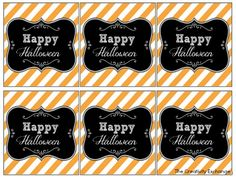 Free Printable Halloween Tags & Labels