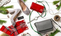 świąteczne stylizacje, moda, szalik w kratkę, czerwony portfel, szare czółenka Adidas, Fashion, Moda, Fashion Styles, Fashion Illustrations