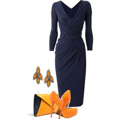 A fashion look from April 2013 featuring Donna Karan dresses, Veda Soul pumps and Vivienne Westwood clutches. Browse and shop related looks.
