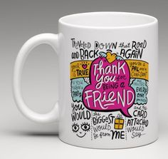 The Golden Girls THANK YOU FOR BEING A FRIEND Song Lyric Coffee Mug Tea Cup Gift