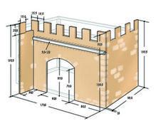 Princess Castle Bed diy plans by Kiddo
