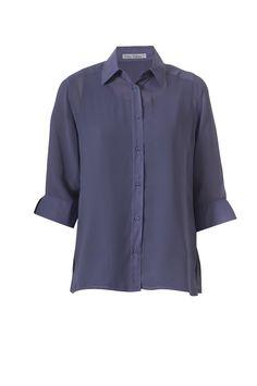 Lilac chiffon blouse