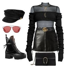 """Untitled #313"" by uraveragestyle ❤ liked on Polyvore featuring Yves Saint Laurent, Charlotte Russe, Christian Dior and Gucci"