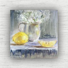 Hey, I found this really awesome Etsy listing at https://www.etsy.com/listing/221626996/lemon-painting-print-of-still-life-oil