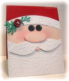 Super Adorable Santa card! made a few of these last year and they turned out great! Thanks Cindy! 8-)