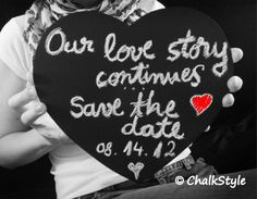 Large CHALKBOARD PHOTO PROP Heart Chalk Board for Rustic Wedding Decor or Engagement or Wedding Photobooth Props on Etsy, $8.95