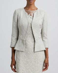 Kay Unger New York Long-Sleeve Embroidered Jacket on shopstyle.com
