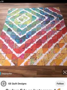 Bright Quilts, Colorful Quilts, Cute Quilts, Easy Quilts, Quilting Projects, Quilting Designs, Batik Quilts, Patchwork Quilting, Charm Pack Quilts