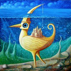Seabird V by Frodo K on DeviantArt (oil, 45 x 45cm)