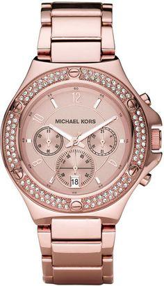 Michael Kors Rose Gold Glitz Watch ...