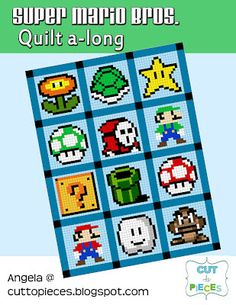 Super Mario Bros quilt. Super awesome, I HAVE to make it for Dan