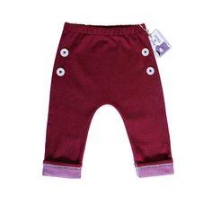 Stretchy denim pants maroon by PaulandPaulaShop on Etsy, $29.00