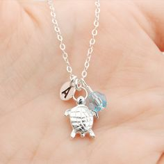 A personal favorite from my Etsy shop https://www.etsy.com/se-en/listing/155434981/turtle-necklace-personalized-necklace