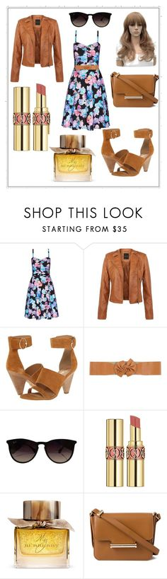 """""""Bez naslova"""" by sevkijaemina ❤ liked on Polyvore featuring City Chic, belle by Sigerson Morrison, Gazel, Ray-Ban, Yves Saint Laurent, Burberry and Jason Wu"""