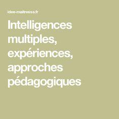 Intelligences multiples, expériences, approches pédagogiques