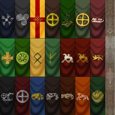 Viking Raven Banner By StephenBarlowdeviantartcom On DeviantArt - Minecraft wikinger hauser