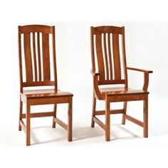 The Carolina chair as a steam bent back with solid vertical slats. The seat is scooped from front to back, giving a unique look to the chair. This chair matches the Carolina solid wood dining table that is available in multiple sizes.