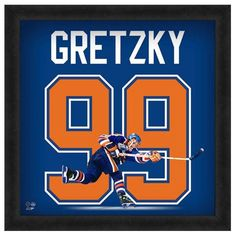 Featured is a Wayne Gretzky framed Edmonton Oilers jersey photo. This photo has been professionally framed and is approximately **Note: This photo is not signed. Edmonton Oilers, Sports Trophies, Wayne Gretzky, National Hockey League, Boston Bruins, Ice Hockey, Nfl Football, Baseball, Nhl