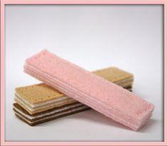 Wool Felt Play Food  Sugar Wafer Cookies by EvaLauryn on Etsy,