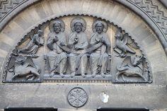 Eglise La Trinité (Abbaye aux Dames) à Caen,romanesque style.  Normandie,France
