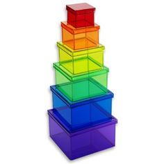The Container Store > Rainbow Lookers Nested Boxes