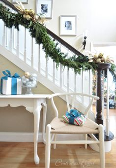 Christmas stairs via Centsational Girl