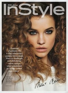 Barbara Palvin Rocks Curly Hair for InStyle Hungary Cover Story
