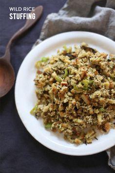 Wild rice stuffing: http://www.stylemepretty.com/living/2014/11/12/twist-on-the-classic-thanksgiving-stuffing/ | Recipe: Irrelephant - http://www.irrelephant-blog.com/