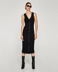 LONG STRIPED BUTTONED DRESS-View all-DRESSES-WOMAN | ZARA United States