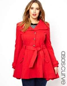 Love it!  Great color for fall.  Something between a swing, pea coat, and trench.