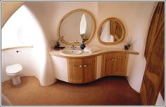 curvy gunnite cement bathroom by roger dean