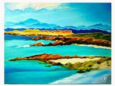 "Buy Abstract Scottish Landscapes #2 Isle of Skye 61 x 46 cm - 24"" x 18"", Acrylic…"