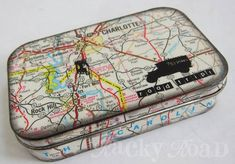 Road Trip Altoids: Altered Travel Tin - PAPER CRAFTS, SCRAPBOOKING & ATCs (ARTIST TRADING CARDS)