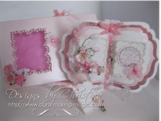 Flowers, Ribbons and Pearls: Book Card ...