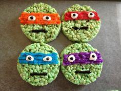 *****Ninja turtle Rice Krispie treats