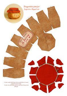 Схема - Баночка варенья из бумаги