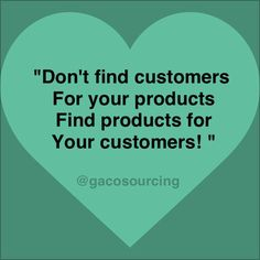 You have a product or service and now what?? Don't just sit there and find customers for your product - know your customer...find the product/s that they can't live without! #promotionalitem #marketing