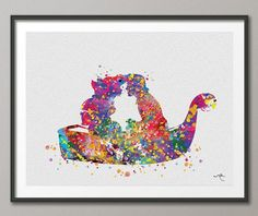 The Little Mermaid Ariel and Eric Kiss  Watercolor Art Print Wall Art Poster Giclee Wall Decor Art Home Decor Wall Hanging No 167 on Etsy, $15.00