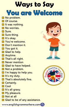 congratulations different beautiful toenglish sentence speaking welcome respond english grammar thank star ways here tips Ways to Say You are Welcome English Grammar Here English Ways to Say You are Welcome EngYou can find Grammar and more on our website English Sentences, English Idioms, English Phrases, Learn English Words, English Lessons, English English, French Lessons, Time Quotes In English, English Prepositions
